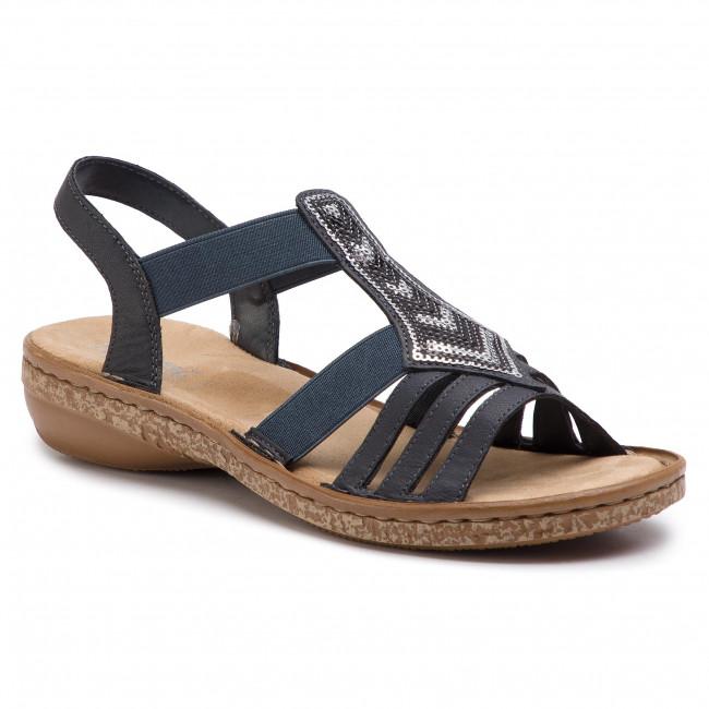 Sandali RIEKER - 62821-14 blu - Sandali da giorno - Sandali - Ciabatte e sandali - Donna   Nuovo Stile    Uomo/Donna Scarpa