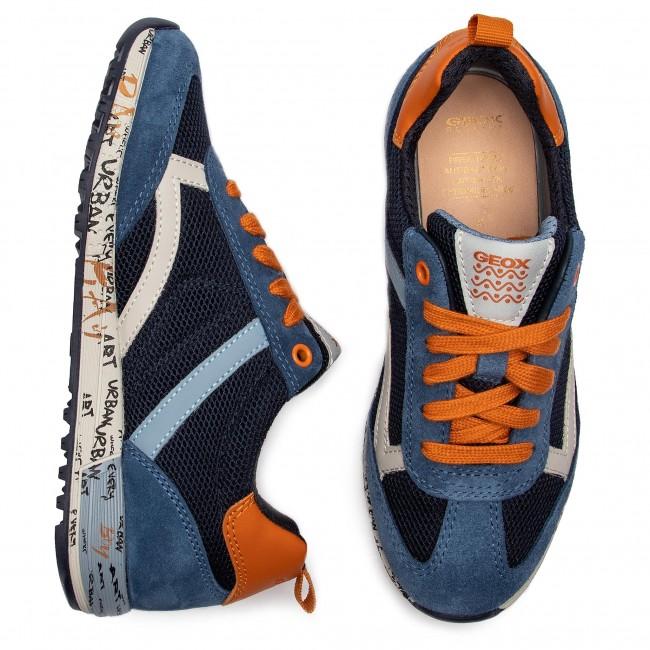 Sneakers GEOX J Alben B. A J929EA 01422 C4218 S NavyDk Orange