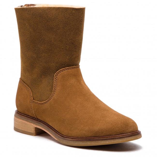 4e0ab3be7b9dd9 Tronchetti CLARKS - Clarkdale Axel 261364174 Dark Tan Suede - Tronchetti -  Stivali e altri - Donna - escarpe.it