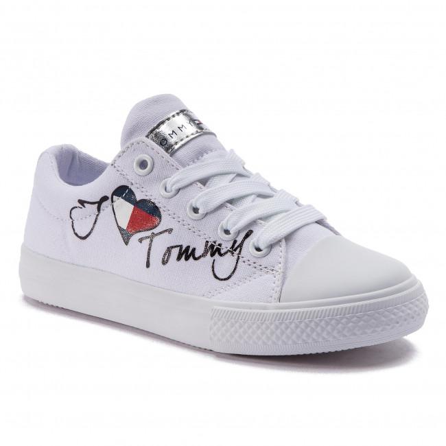 Scarpe da ginnastica TOMMY HILFIGER Low Cut Lace Up Sneaker White M T3A4 30260 0616 White 100 Sneaker White M T3A4 30260 0616 White 100