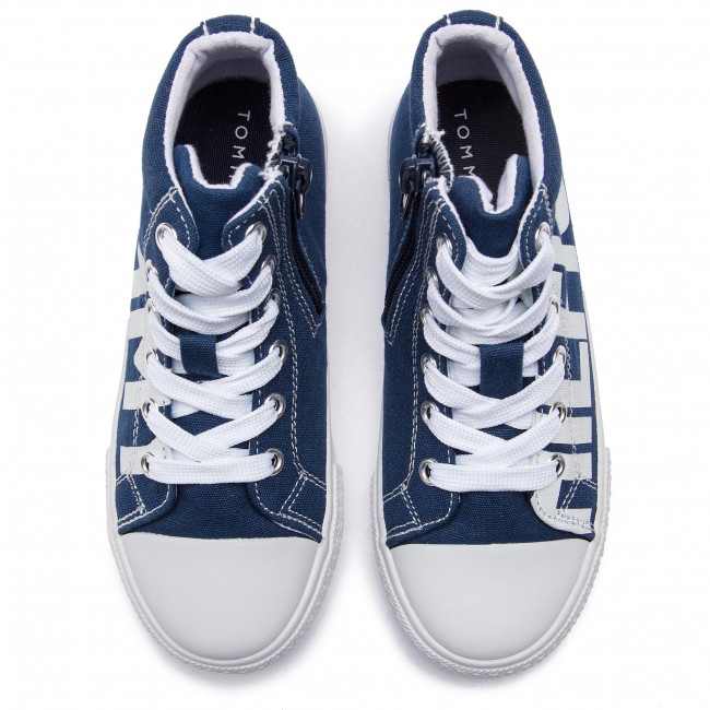 Scarpe da ginnastica TOMMY HILFIGER High Top Lace Up Sneaker T3B4 30275 0618 BlueWhite X007