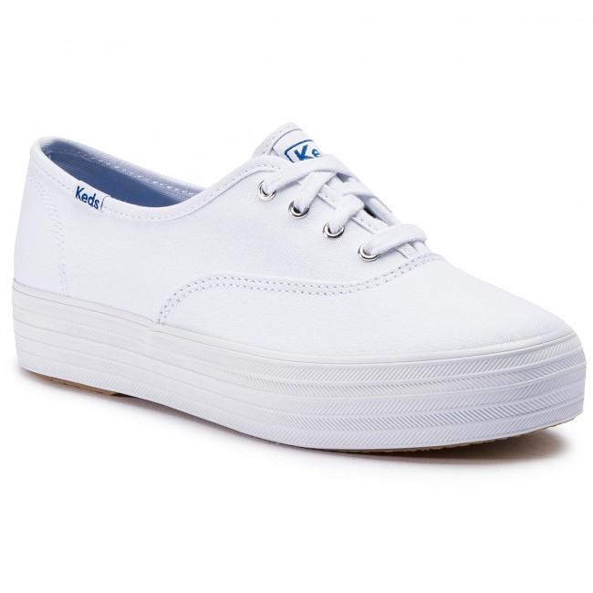 Scarpe sportive KEDS - Triple WF49946 bianca - Scarpe da ginnastica - Scarpe basse - Donna | Il Nuovo Prodotto  | Uomini/Donna Scarpa