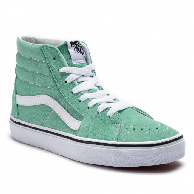scarpe da ginnastica VANS - Sk8-Hi VN0A38GEVMX1  Neptune verde True bianca - scarpe da ginnastica - Scarpe basse - Donna | Nuovo  | Gentiluomo/Signora Scarpa