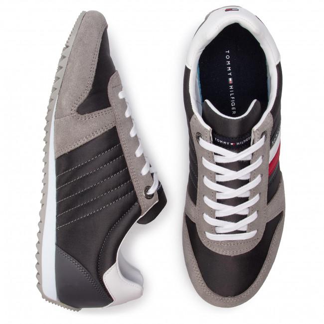Tommy hilfiger essential nylon runner fm0fm02024 escarpe it grigio pelle