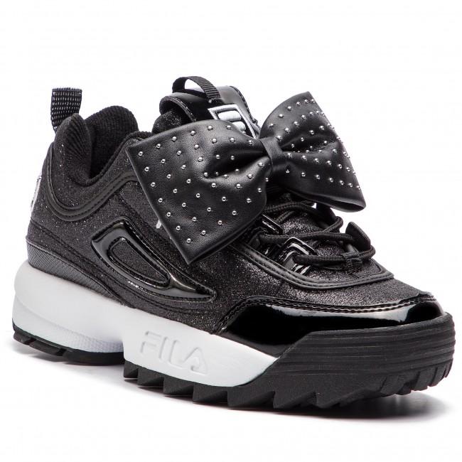Sneakers FILA - Disruptor Glam Low Wmn 1010537.25Y Black - Sneakers ... 7a61b3671bb
