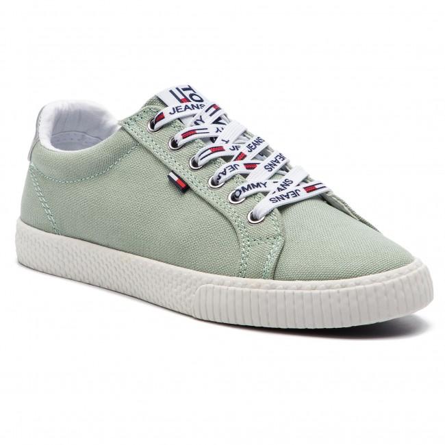 Scarpe sportive TOMMY JEANS - Casual Sneaker EN0EN00125 Frosty Green ... d15a0f4aa17