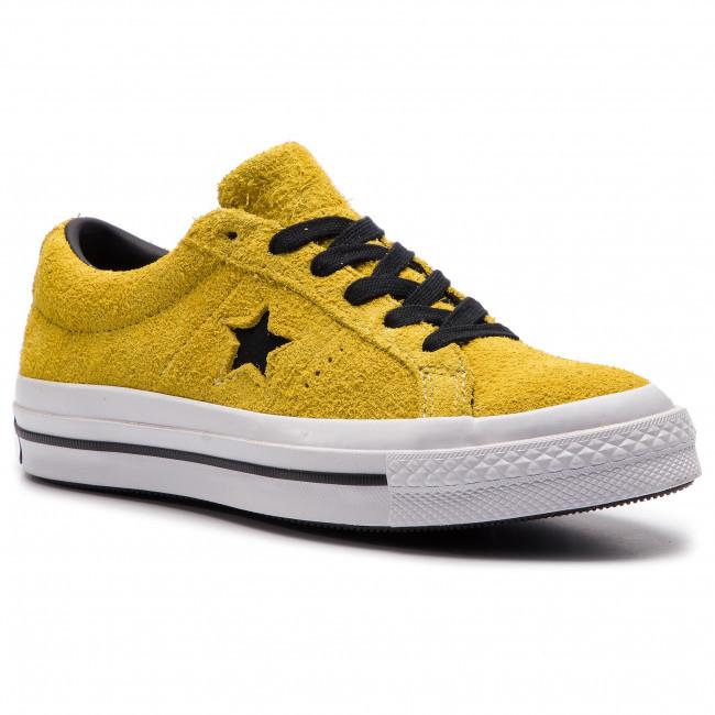 Scarpe sportive CONVERSE - One Star Ox 163245C Bold Citron nero bianca - Scarpe da ginnastica - Scarpe basse - Donna | Shop  | Scolaro/Ragazze Scarpa