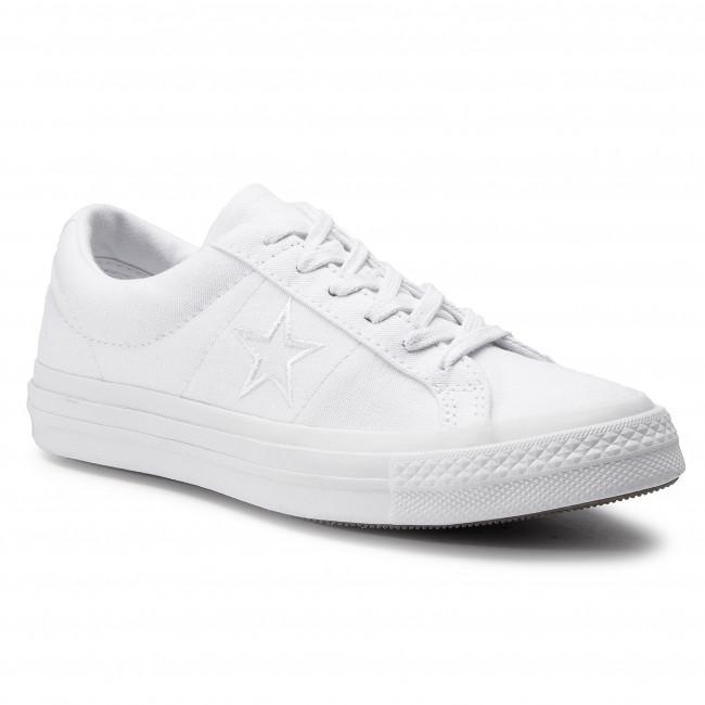 Scarpe sportive CONVERSE - One Star Ox 163377C bianca bianca bianca - Scarpe da ginnastica - Scarpe basse - Donna | Di Prima Qualità  | Maschio/Ragazze Scarpa