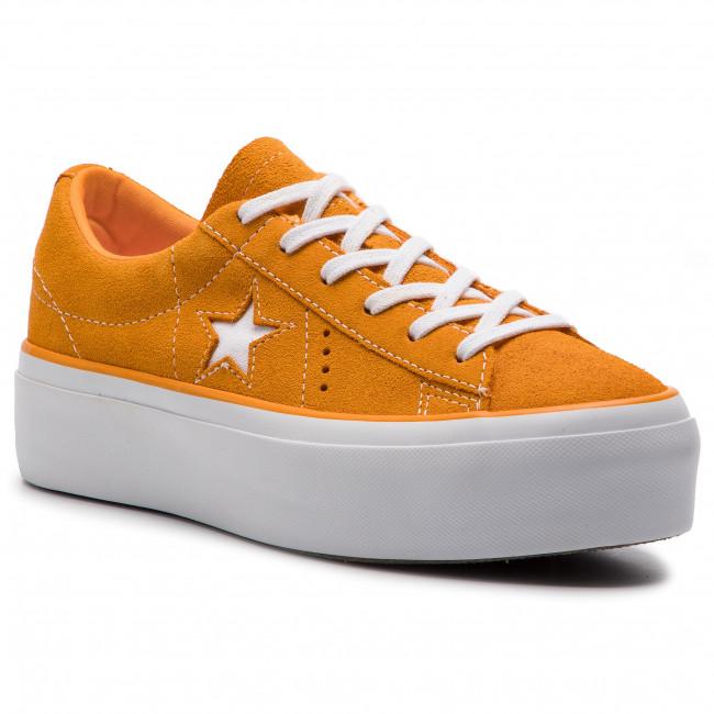 563487c One Star Platform Field Ox Orange Scarpe Sportive Converse JcFKTl1