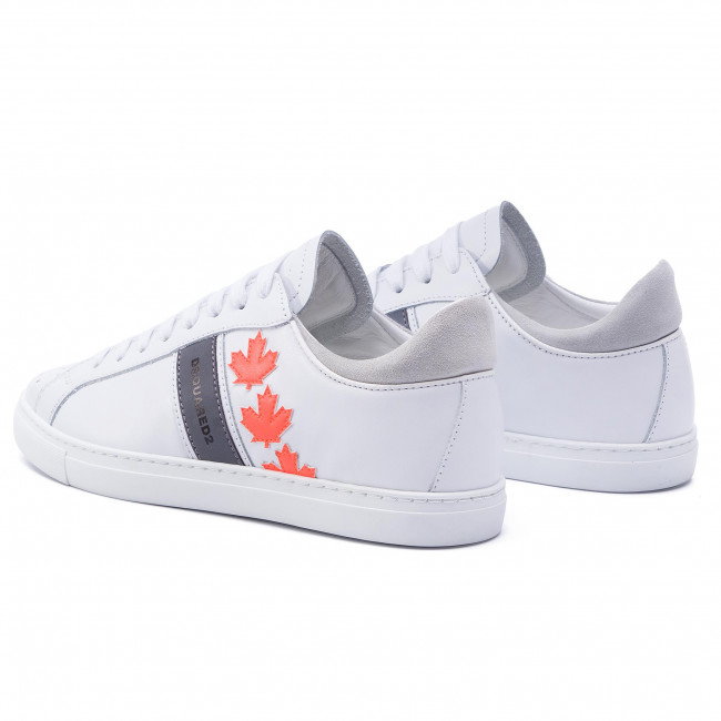 Canadian Dsquared2 01501761 Team Escarpe Bianco M635 Pelle Snm0035 it iTZuXOPk