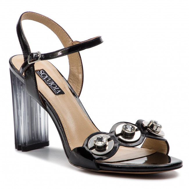 Sandali SCA'VIOLA - F-151 Patent nero - Sandali da giorno - Sandali - Ciabatte e sandali - Donna   all'ingrosso    Scolaro/Ragazze Scarpa