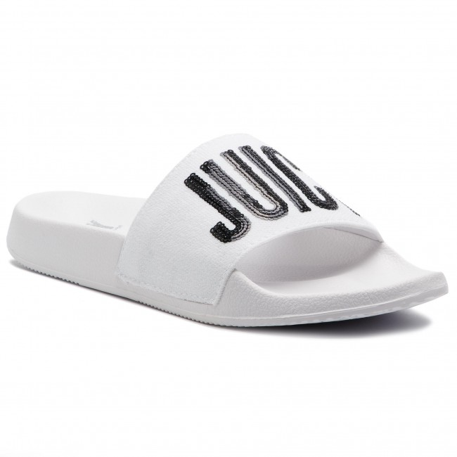 Ciabatte JUICY BY JUICY COUTURE - Maisy JJ161-WBA  bianca nero - Ciabatte da giorno - Ciabatte - Ciabatte e sandali - Donna | Up-to-date Styling  | Maschio/Ragazze Scarpa