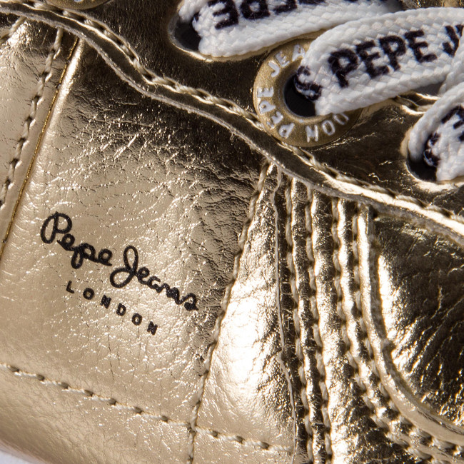 Sneakers PEPE JEANS Sydney Mirror Kids PGS30399 Gold 099
