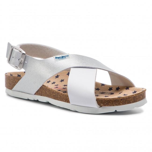 Sandali PEPE JEANS - Bio Stars PGS90131 argento 934 - Sandali da giorno - Sandali - Ciabatte e sandali - Donna | A Basso Costo  | Maschio/Ragazze Scarpa