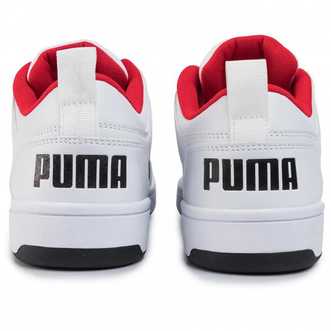 Sneakers PUMA Rebound Layup Lo Sl 369866 01 WhiteBlackHigh Risk Red