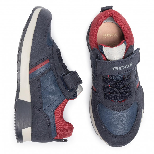 Sneakers GEOX J Alfier B. A J946NA 0BUAF C4244 S NavyDk red