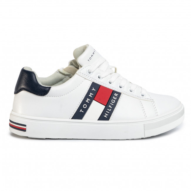 Scarpe sportive TOMMY HILFIGER Low Cut Lace Up Sneaker T3B4 30694 0034 M White 100