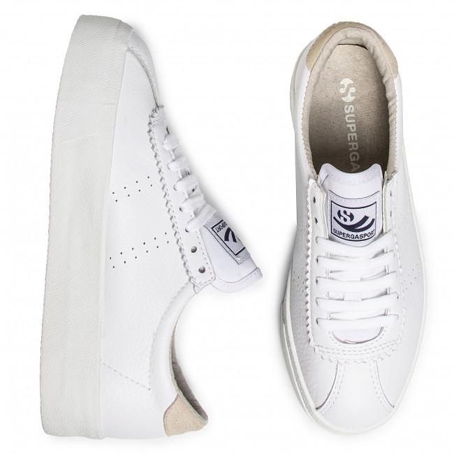 Sneakers SUPERGA 2854 Club 3 Leasuew S1113FW WhiteBeige