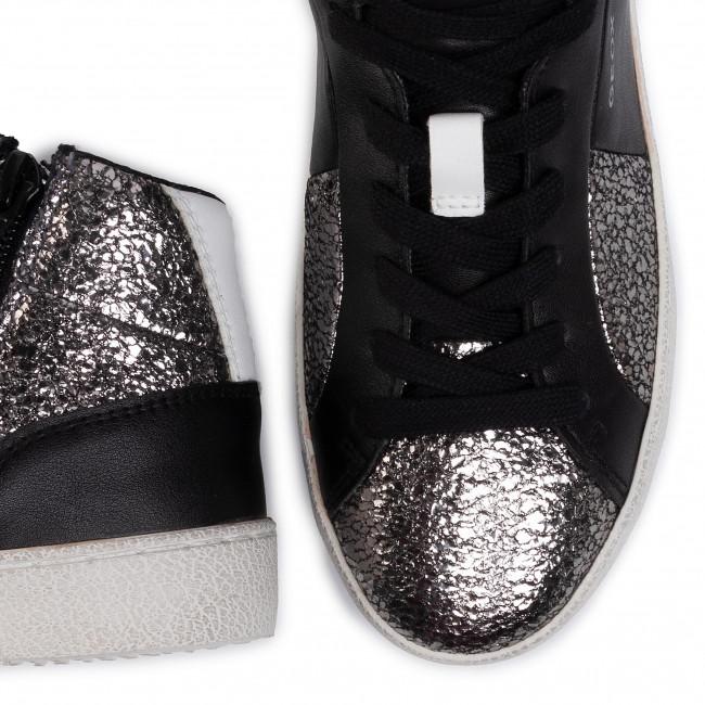 Sneakers GEOX D Warley B D92FBB 0KYBC C0474 Argento Nero