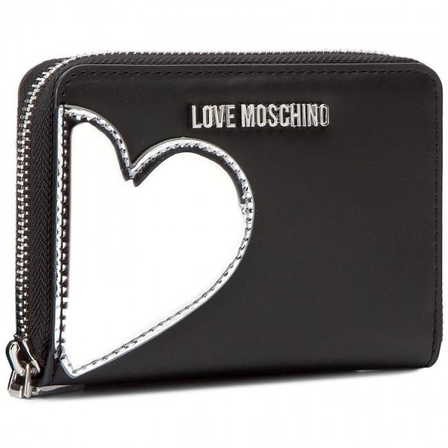 5847436565 Portafoglio grande da donna LOVE MOSCHINO - JC5512PP14LD200A Nero/Argento