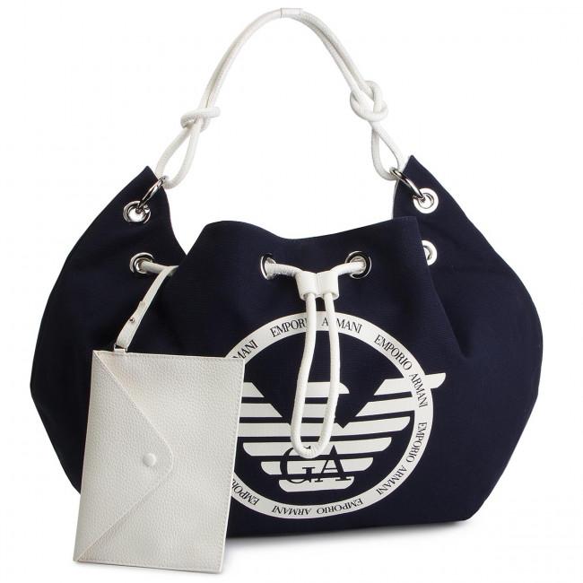 Borsa EMPORIO ARMANI - Y3E142 YFA8E 88180 Blue White - Shopper ... a0980f75b39