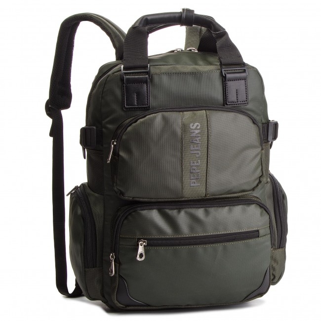 9c5c858d9e Zaino PEPE JEANS - Bromley Laptop PM120026 Military Green 679 ...