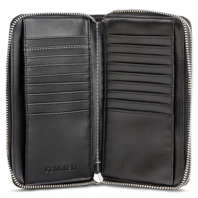 9f171ec164 Portafoglio grande da donna CALVIN KLEIN - Stitch Double Ziparound  K6K604864 Black 001