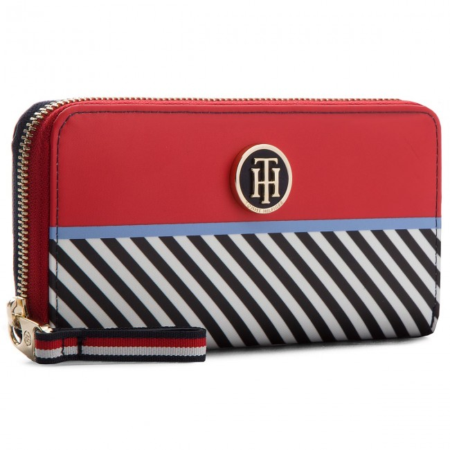 9869dda505 Portafoglio grande da donna TOMMY HILFIGER - Poppy Lrg Wallet Multi ...