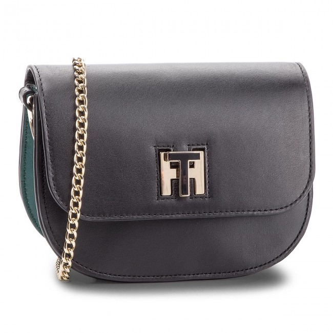 4922a2d887 Borsa TOMMY HILFIGER - Th Twist Leather Cro AW0AW05714 901 - Clutch ...