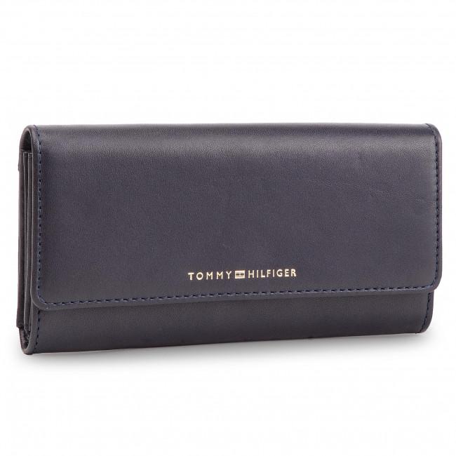 223c58d5cf Portafoglio grande da donna TOMMY HILFIGER - Classic Leather Lrg Za W/Flap  AW0AW06895 413