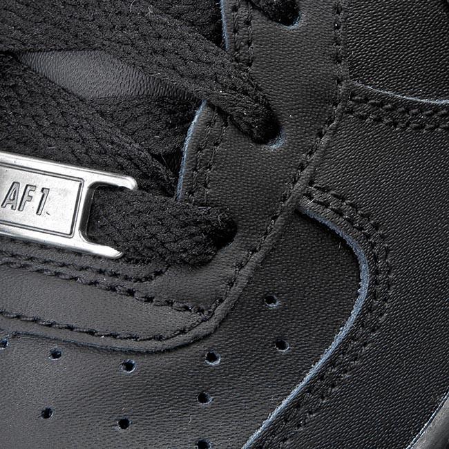 air force 1 classiche nere da bambino maschio