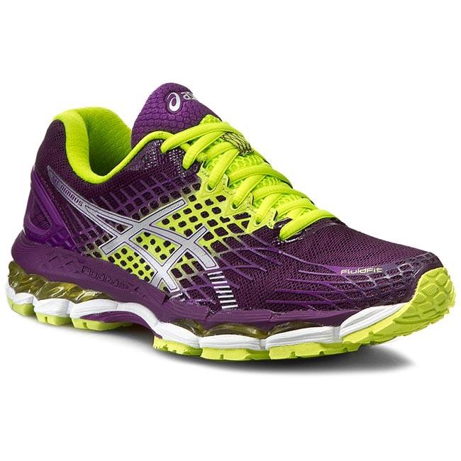 nuovo Asics Gel Nimbus 17 Donna Running Scarpe Silver