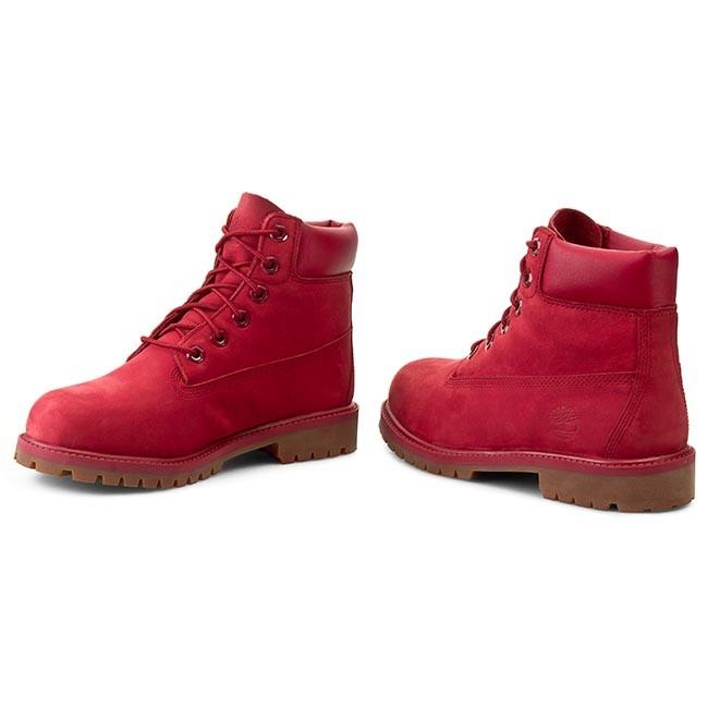 Scarponcini TIMBERLAND - 6 In Premium Wp Boot A13HV/TB0A13HV6261 Red - Scarpe da trekking e scarponcini - Stivali e altri - Donna