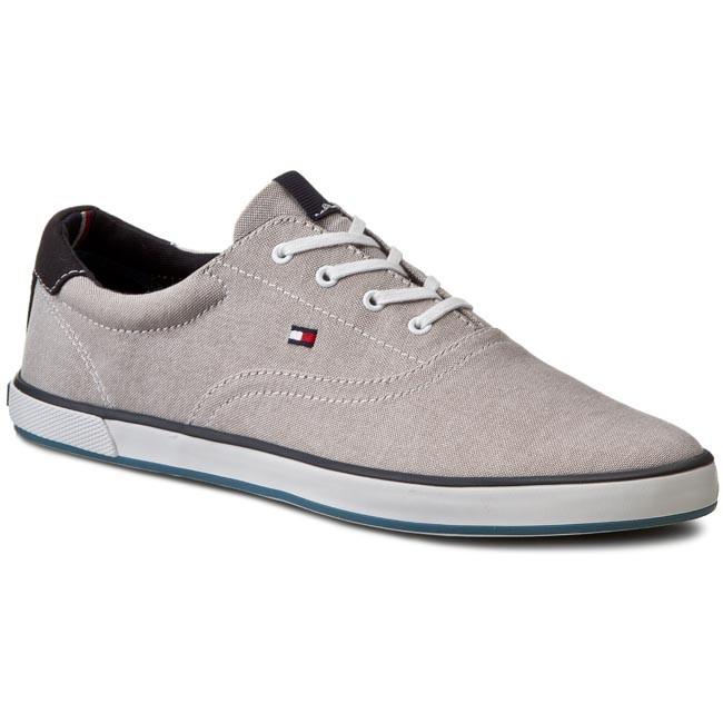Tommy Hilfiger HARLOW Sneakers basse steel grey Uomo Tela