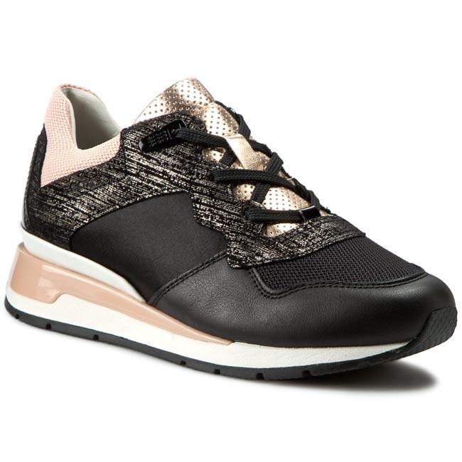 Dettagli su GEOX SHAHIRA sneakers nero scarpe donna mod. D44N1A