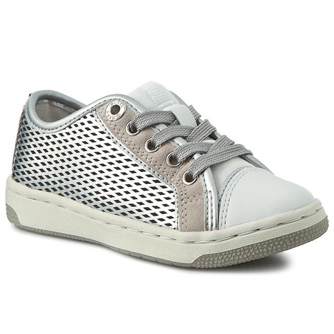 F Scarpe J C1007 Stringate Bambino Basse Bambina Srebrny Sneakers Creamy 0aj22 Geox J62l5f wm80Nn