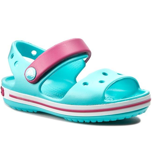 Sandali CROCS - Crocband Sandal Kids 12856 Pool/Candy Pink