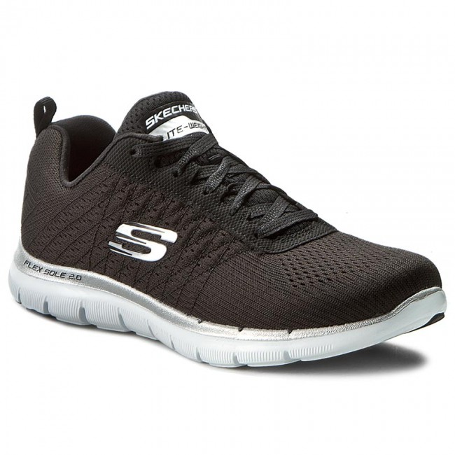 Scarpe SKECHERS - Break Free 12757/BKW Black/White