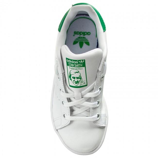 Ba8375 green Scarpe Smith Ftwwht ftwwht Basse Bambina Stan C Adidas Bambino Stringate 8wnyNvm0O