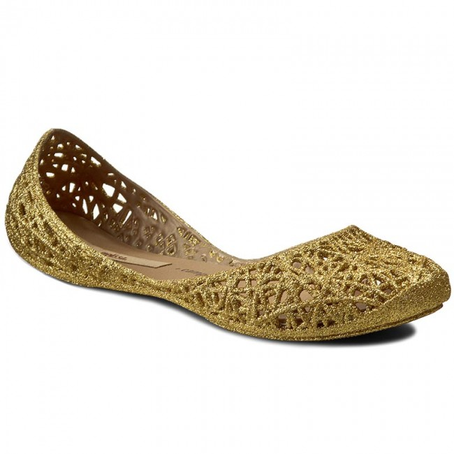 Los Angeles 50-70% di sconto ultima moda Ballerine MELISSA - Campana Zig Zag II Ad 31513 Gold Glitter 51969