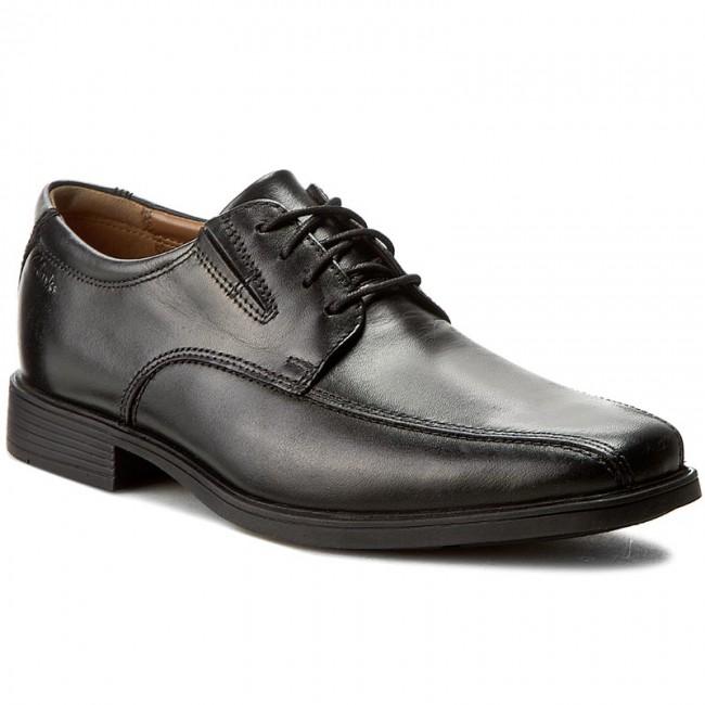 Scarpe basse CLARKS Tilden Walk 261103107 Black Leather