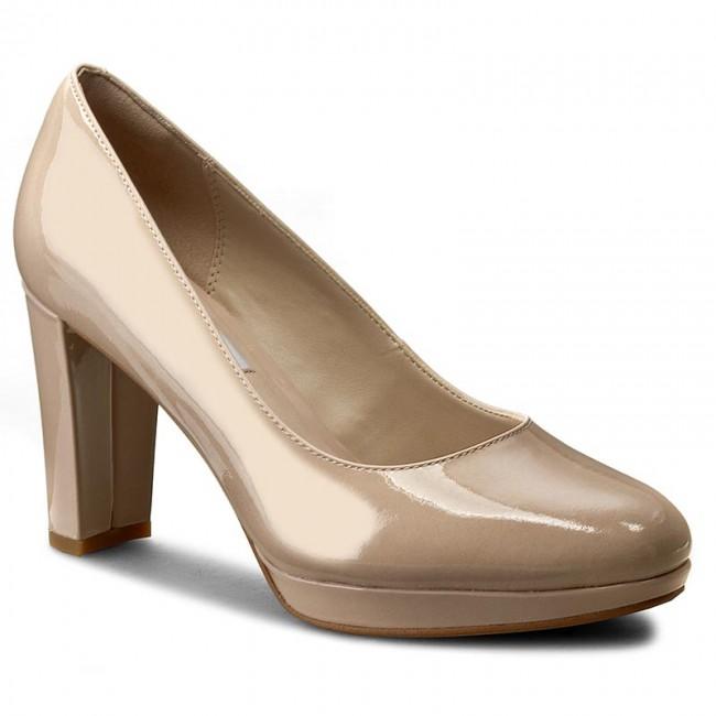 Scarpe Kendra Con Donna Patent Tacco Sienna 261227934 Nude Basse Clarks WIeH9E2YDb