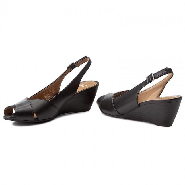 Sandali CLARKS Brielle Kae 261244014 Black Leather