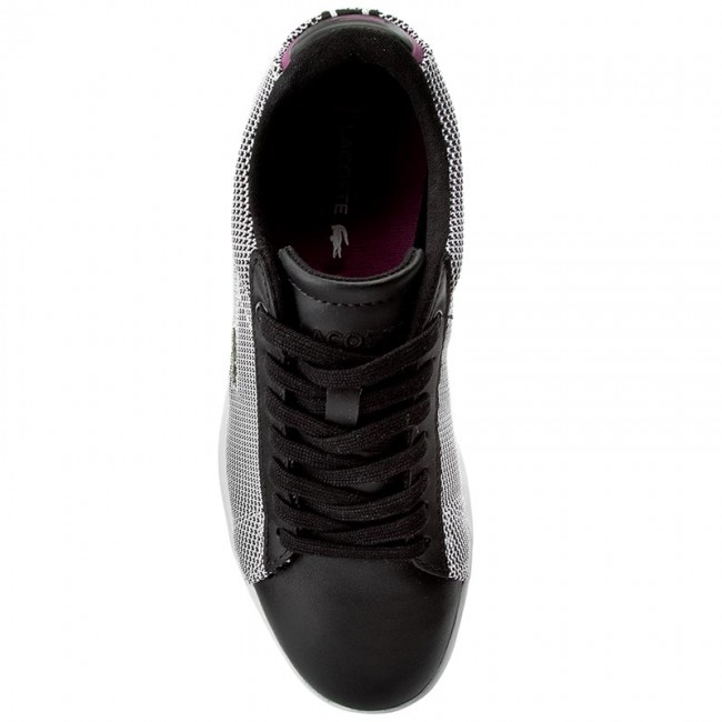 wht Blk Scarpe 33spw1010312 Lacoste Basse Spw 7 Carnaby Sneakers Donna Evo 117 1 H29WIED