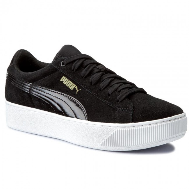 Puma Vikky Platform Wns White Black
