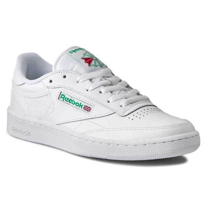 reebok club c 85 white and green
