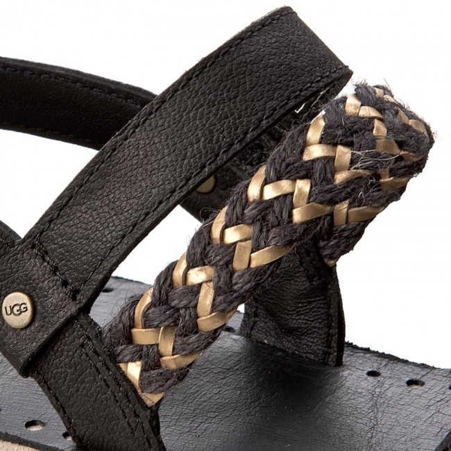 Sandali UGG - W Elin 1015035 W/Blk - Sandali da giorno - Sandali - Ciabatte e sandali - Donna