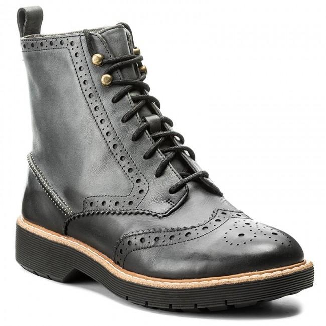 30930f4cfd4c3b Tronchetti CLARKS - Witcombe Flo 261300374 Dark Grey Leather - Tronchetti -  Stivali e altri - Donna - escarpe.it