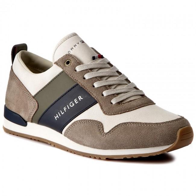Sneakers TOMMY HILFIGER Maxwell 11C1 FM0FM00614 AluminiumOff White 908