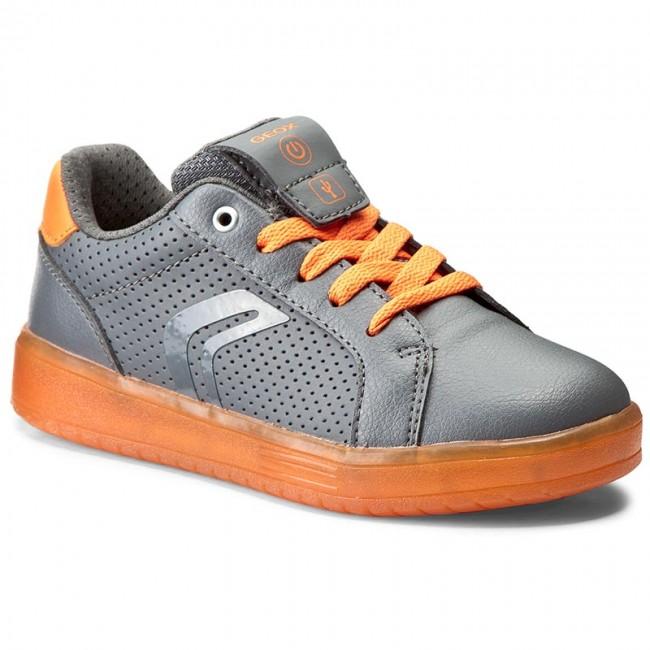 Sneakers GEOX J Kommodor B. B J745PB 0BCBU C1361 Dk GreyOrange
